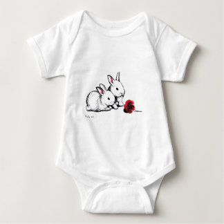 Two Little White Rabbits Tee Shirt