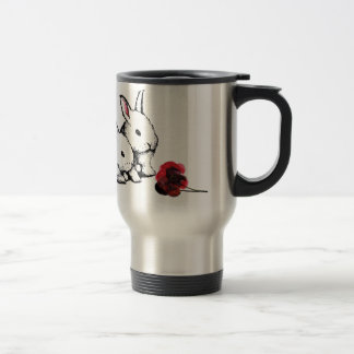 Two Little White Rabbits Travel Mug