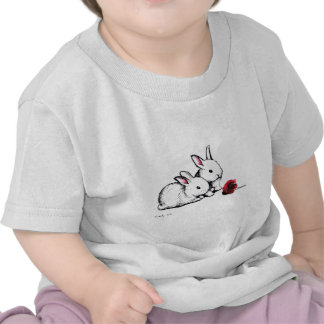 Two Little White Rabbits Tees