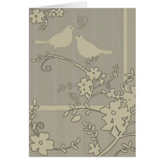 Two Love Birds ~ Card / Invitations