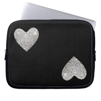 Two love hearts laptop sleeve