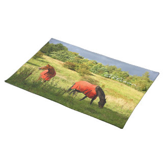 Two lovely horses your name placemat