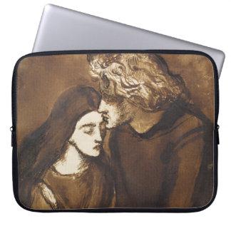 Two Lovers by Dante Gabriel Rossetti Laptop Sleeve