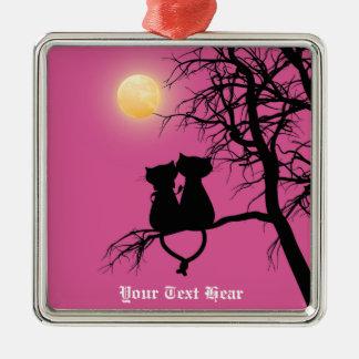 Two Lovers Cat Premium Square Ornament