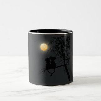 Two lovers cat / Two-tone Mug (Black)