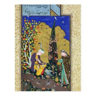 Two Lovers in a Flowering Orchard Postcard