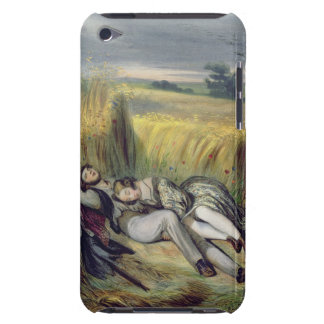 Two lovers Lying in a Cornfield (litho) iPod Case-Mate Case