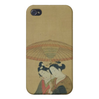 Two Lovers under an Umbrella iPhone 4/4S Covers