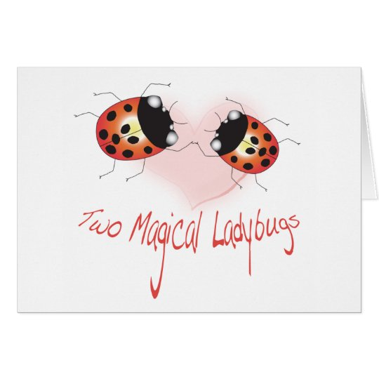 Two Magical Ladybugs Greeting Card - Customised