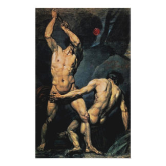 Two Male Nudes Poster