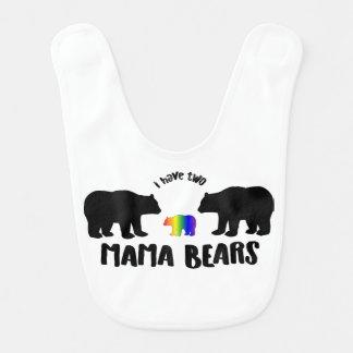 Two Mama Bears Baby Bib