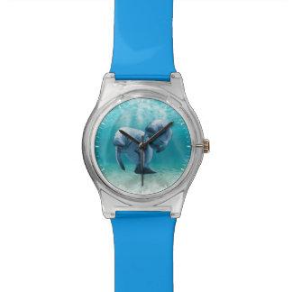 Two Manatees Swimming Wrist Watch