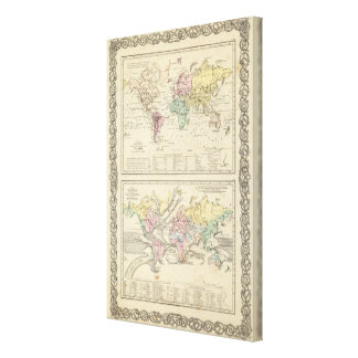 Two Maps of The World Canvas Print