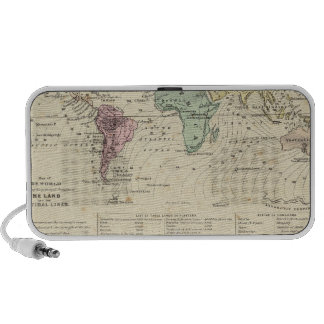 Two Maps of The World iPod Speaker
