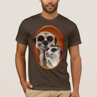 Two Meerkat Oval Shirt
