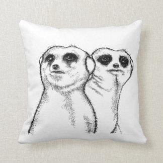 Two meerkats cushion