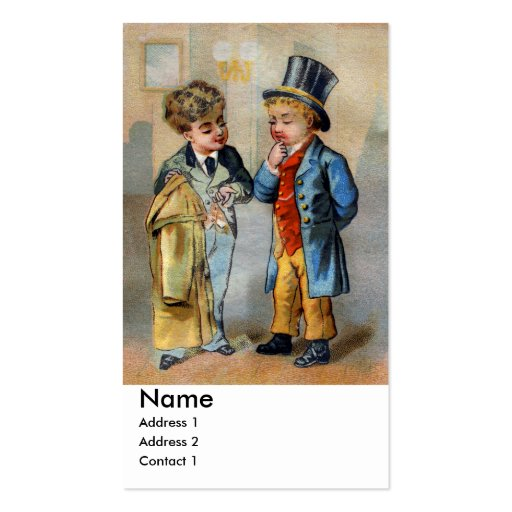 Two Men at Clothiers Business Card Template