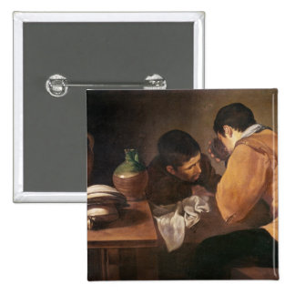 Two Men at Table, c.1620-21 15 Cm Square Badge