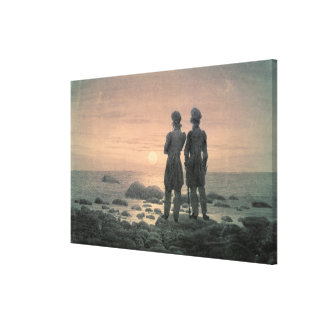 Two Men by The Sea Canvas Print
