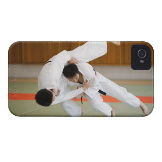 Two Men Competing in a Judo Match 2 iPhone 4 Cover