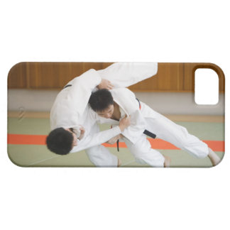 Two Men Competing in a Judo Match 2 iPhone 5 Cases