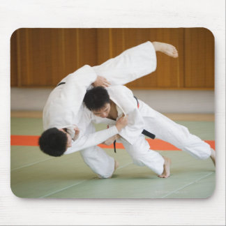 Two Men Competing in a Judo Match 2 Mouse Mat