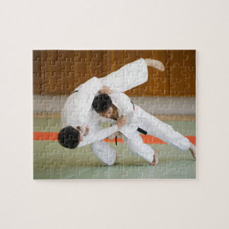 Two Men Competing in a Judo Match 2 Puzzles