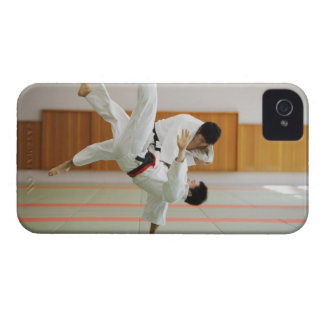 Two Men Competing in a Judo Match 3 Case-Mate iPhone 4 Cases