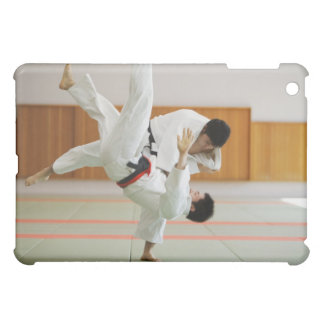 Two Men Competing in a Judo Match 3 iPad Mini Case