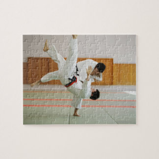 Two Men Competing in a Judo Match 3 Jigsaw Puzzle