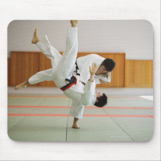 Two Men Competing in a Judo Match 3 Mouse Mat