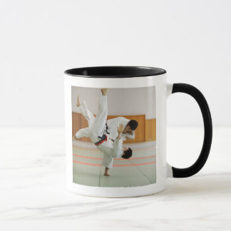 Two Men Competing in a Judo Match 3 Mug