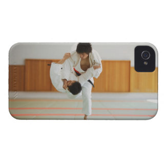 Two Men Competing in a Judo Match iPhone 4 Cover
