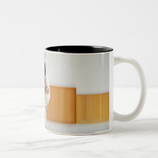 Two Men Competing in a Judo Match Two-Tone Mug