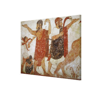 Two men, from the Tomb of the Augursx Gallery Wrapped Canvas