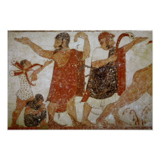 Two men, from the Tomb of the Augursx Poster