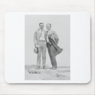 Two Men on Rocks Mouse Pad