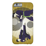 Two men performing martial arts in front of a barely there iPhone 6 case