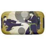 Two men performing martial arts in front of a samsung galaxy SIII case