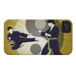 Two men performing martial arts in front of a Case-Mate iPhone 4 cases