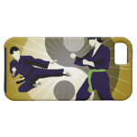 Two men performing martial arts in front of a iPhone 5 case