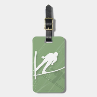 Two Men Ski Jumping Luggage Tag