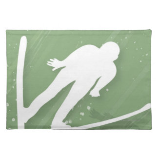 Two Men Ski Jumping Placemat