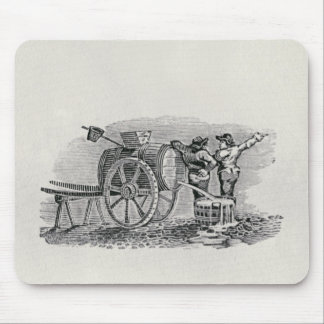 Two Men with a Barrel Cart Mouse Mat