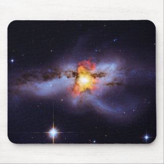 Two Merging Black Holes in Galaxy NGC 6240 Mouse Pad