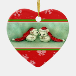 Two Mice have a Christmas Secret Ornament