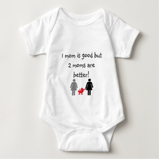 Two mommies baby bodysuit