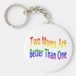 Two Moms Better (rainbow) Key Chain