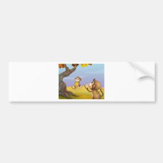 Two monkeys beside the big tree bumper sticker
