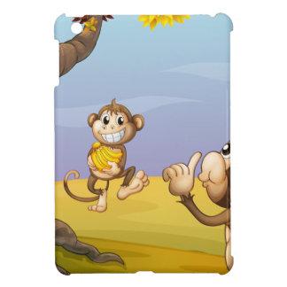 Two monkeys beside the big tree iPad mini covers